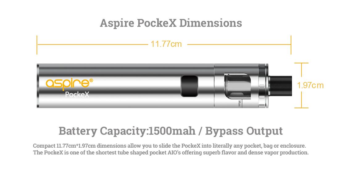 Aspire PockeX - Dimensions