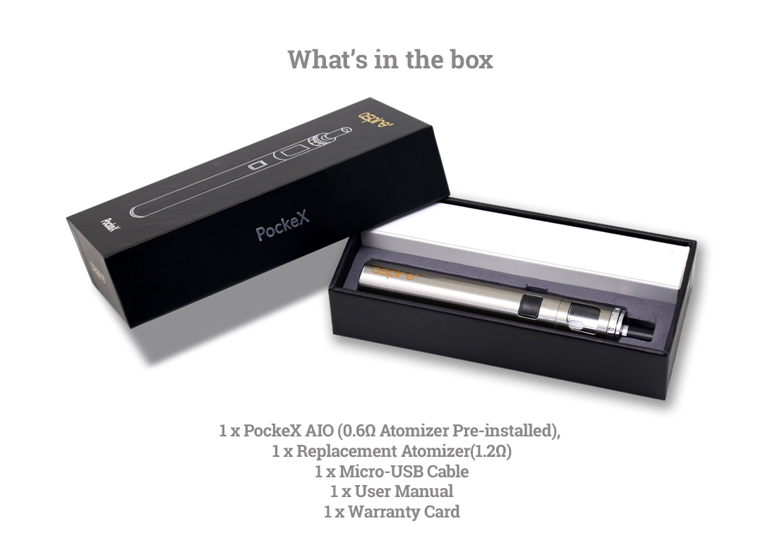 Aspire PockeX - Whats in the Box