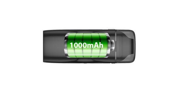 Built-in 1000mAh Battery
