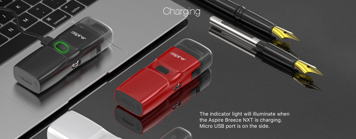 Charging Features of the Aspire Breeze NXT